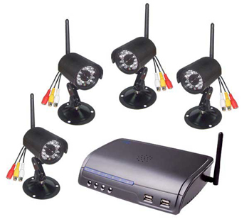 Long Range Wireless Camera Kit H.264 IP Server