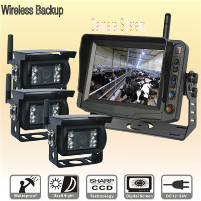 5-inch Wireless LCD Monitor with 3 Wireless Cameras