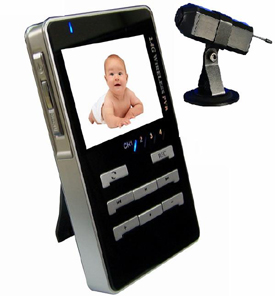 Wireless Baby Monitor Kit with Recording LCD Receiver SD MMC Card 4