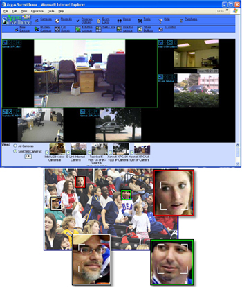 DVR Surveillance Software with Face Detection
