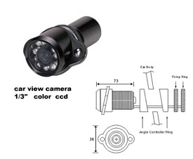 1/3-inch CCD Car Camera with Night Vision