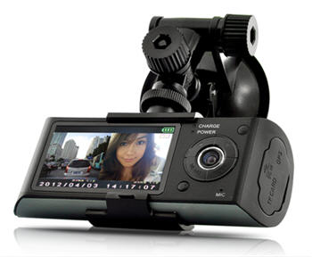 Car BlackBox DVR with Dual Cameras GPS G-Sensor