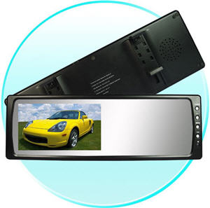 6-inch rear-view mirror / LCD monitor with dual layer
