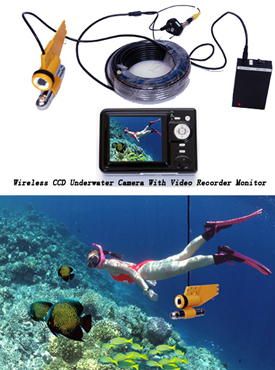 Wireless CCD Underwater Camera with Video Recorder