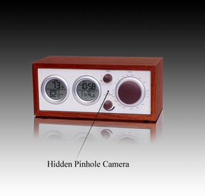 Clock Radio Hidden Wireless Camera Receiver Set
