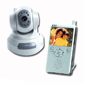 Mobile Wireless LCD Receiver Camera with Remote Pan/Tilt/Night Vision