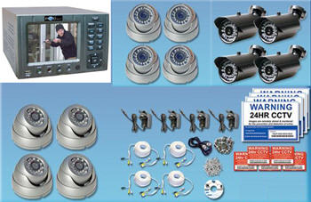 4 Channel LCD DVR System with 4 Cameras