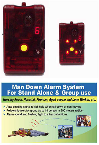 Wireless Lone Worker Man Down Panic Alarm