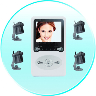 Wireless Camera Kit  LCD Receiver Monitor 4 Wireless CMOS Cameras
