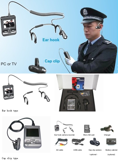 Mobile H.264 CCD Security Camera with LCD Recording Unit