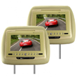 Pair (2) of Car Headrest DVD Players 7 Inch Screen
