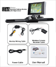 Wide Angle Wireless Car Camera Kit 3.5-inch LCD Screen