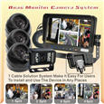 Wired Quad / Split View Vehicle Camera kit 7-inch LCD Screen - 2