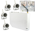 Outdoor Camera Security Kit with Wireless Quad Receiver