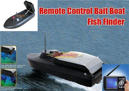 jet powered fishing bait boat with sonar, Fish Finder