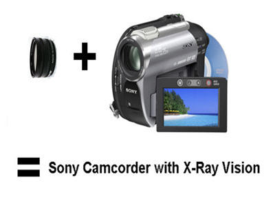 Sony Night Shot Camcorder with X-Ray Filter