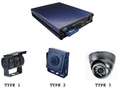 H.264 Vehicle DVR and Camera Kit
