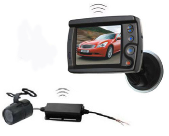 Fully Wireless Vehicle Camera Kit with 3.5-inch LCD Screen