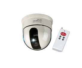Wired Dome CCD Camera with Remote Control