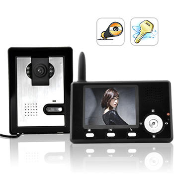Wireless Door Entry Monitor with Camera and Audio