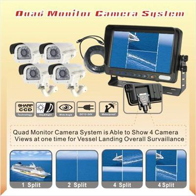 Wireless Quad / Split View Vehicle Camera kit 7-inch LCD Screen - 3