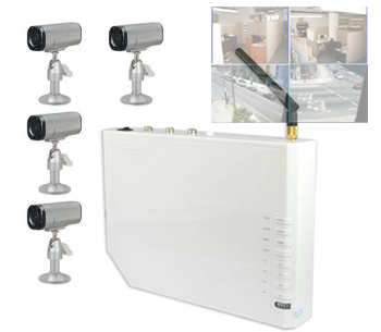Indoor Camera Security Kit with Wireless Quad Receiver