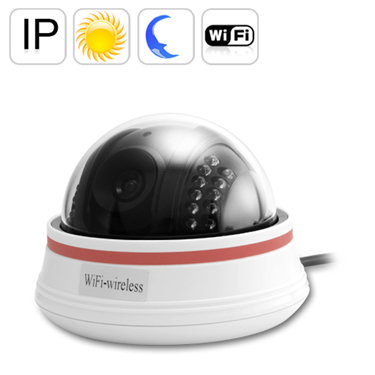 Wireless IP Dome Camera with Night Vision